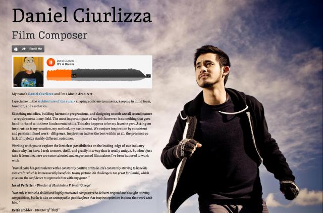 Daniel Ciurlizza's about.me page