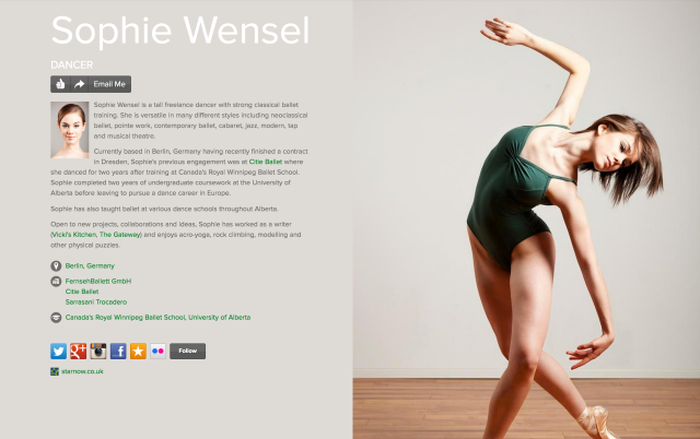 Sophie Wensel on about.me