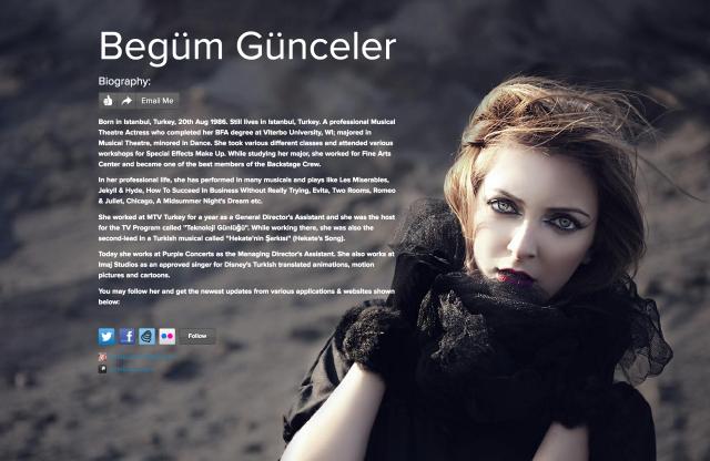 /begum gunceler on about.me