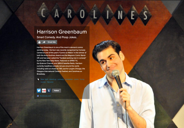 Harrison Greenbaum on about.me