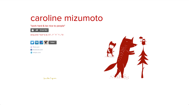 caroline mizumoto on about.me