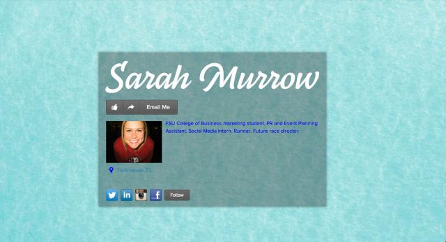 http://about.me/sarahmurrow