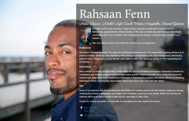 Rahsaan Fenn on about.me