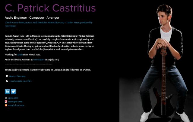 C. Patrick Castritius on about.me