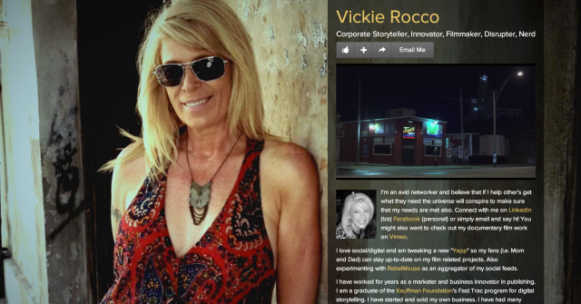 http://about.me/vickierocco