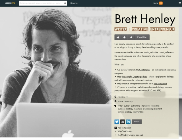 Brett-Henley-about.me-Page