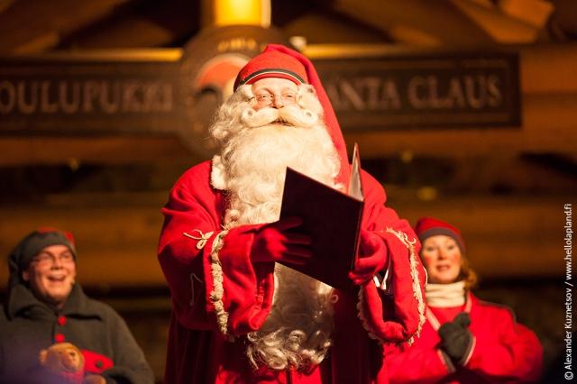 Finnish Santa Proclaming Xmas season