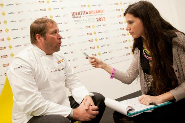 Elisa interviewing Chef David Kinch