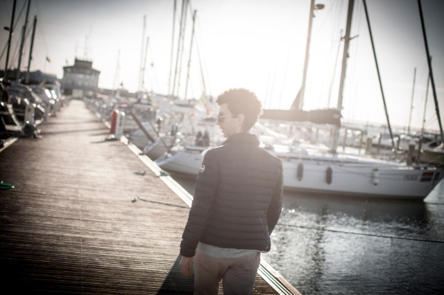 Roberto on the dock