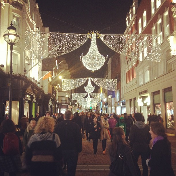 Grafton Street at Christmas time
