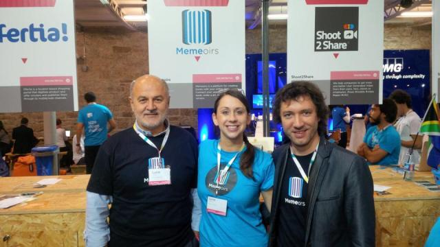 June with part of the Memeoirs team at the Web Summit