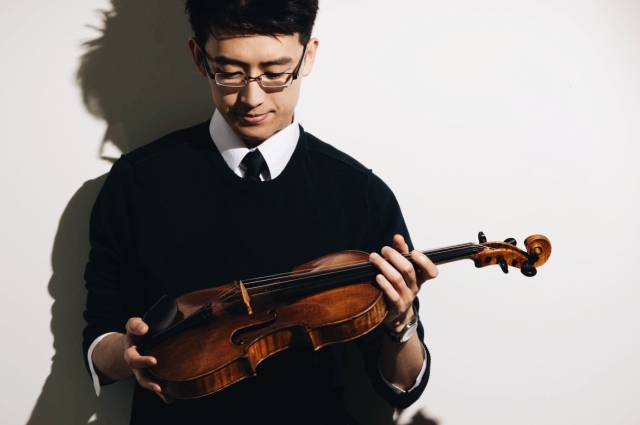 CheHo with his violin