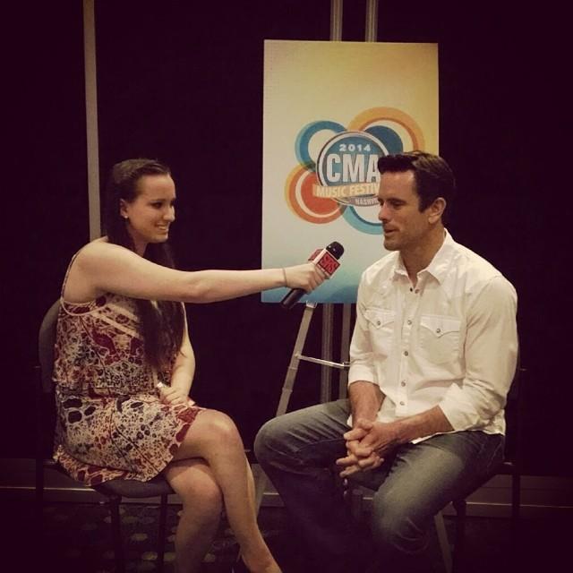 Jacklyn interviewing Chip Esten from ABC's Nashville.