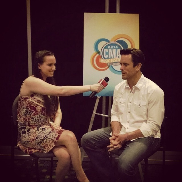 Jacklyn interviewing Chip Esten from ABC's Nashville.