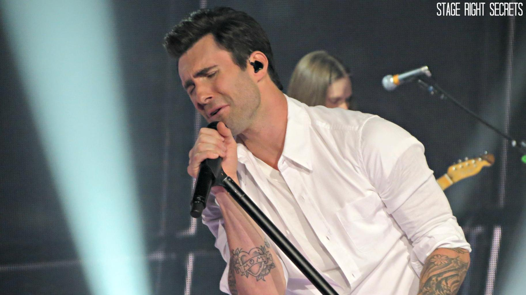 A photo, taken by Jacklyn, of Adam Levine.