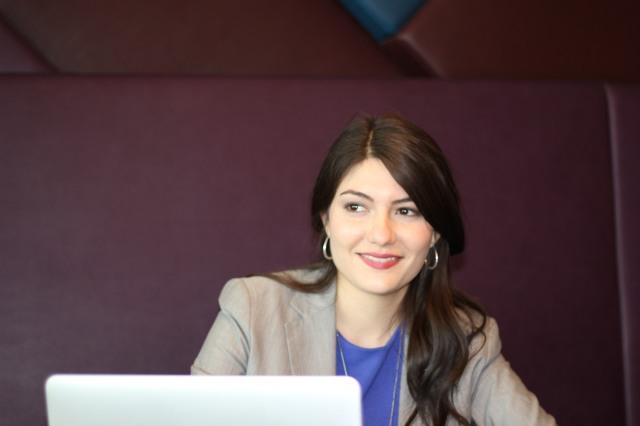 Elizabeth J. Taylor at her desk