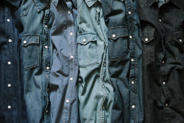 denim background with jeans shirts